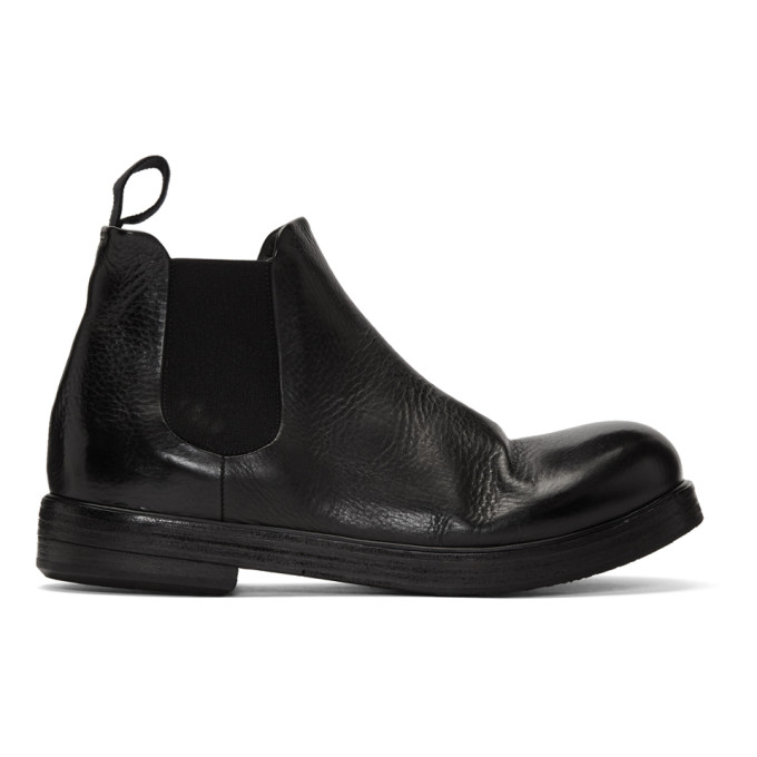 Marsell Black Zucca Zeppa Beatles Chelsea Boots
