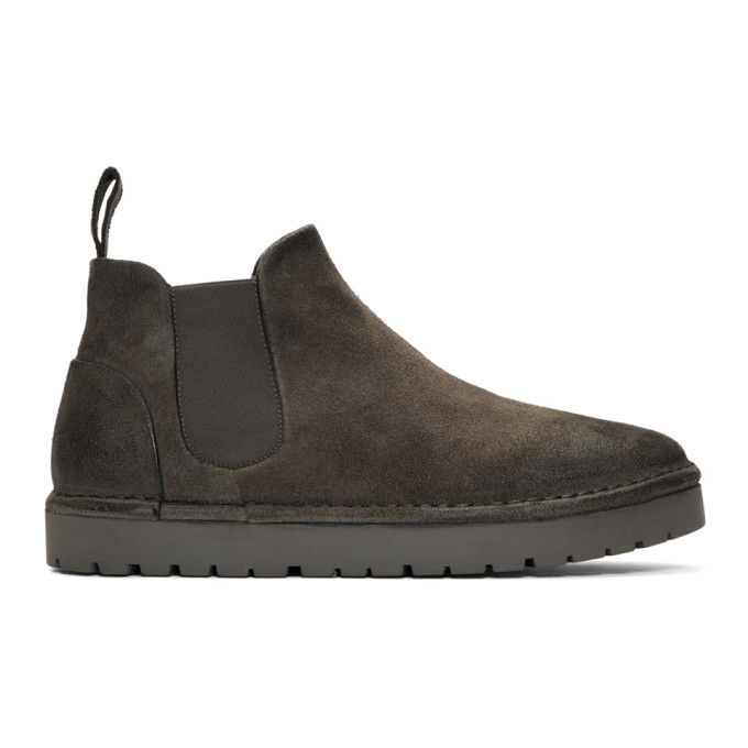 Marsell Grey Gomme Sancrispa Alta Beatles Chelsea Boots