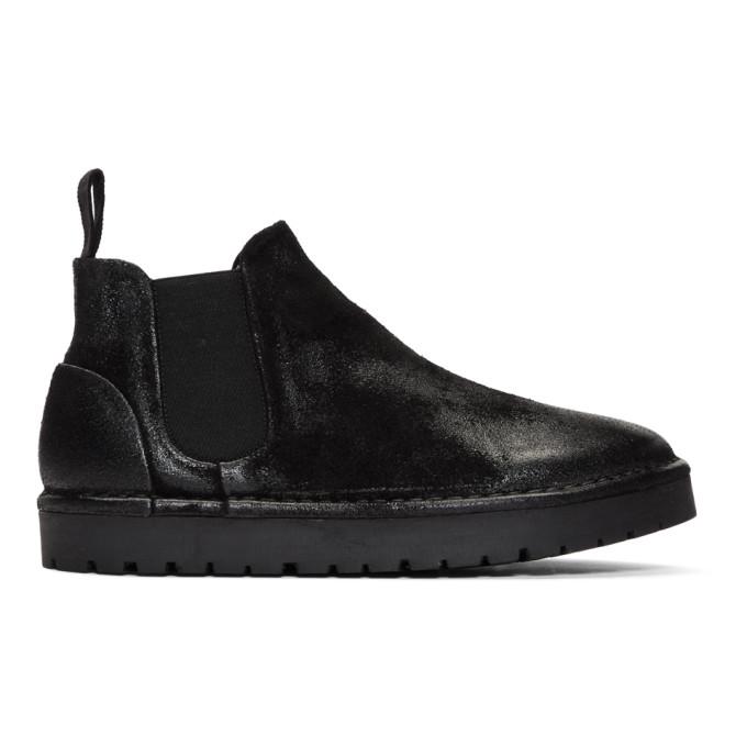 Marsell Black Gomme Sancrispa Alta Beatles Chelsea Boots