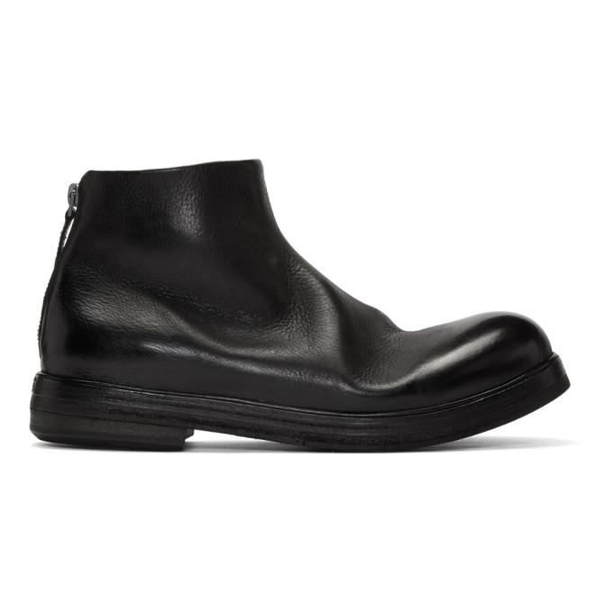 Marsell Black Zucca Zeppa Tronchetto Boots