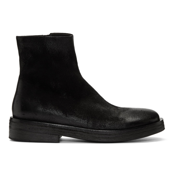 Marsell Black Suede Listone Boots