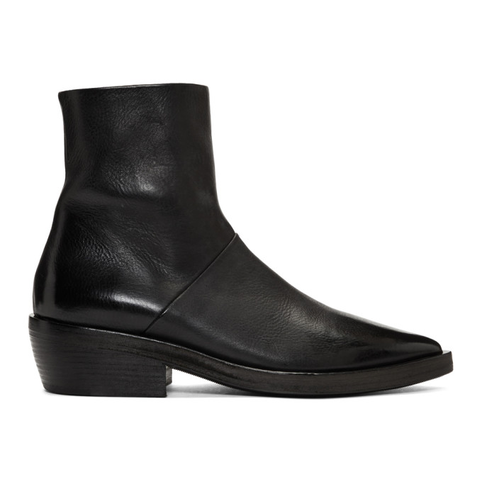 Marsell SSENSE Exclusive Black Coneros Boots