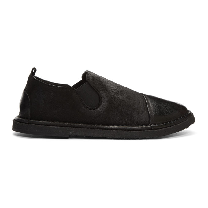 Marsell Black Parellara Pantofola Loafers