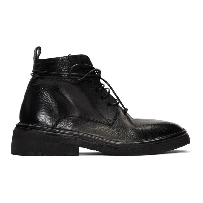 Marsell Black Burraccia Anfibio Boots
