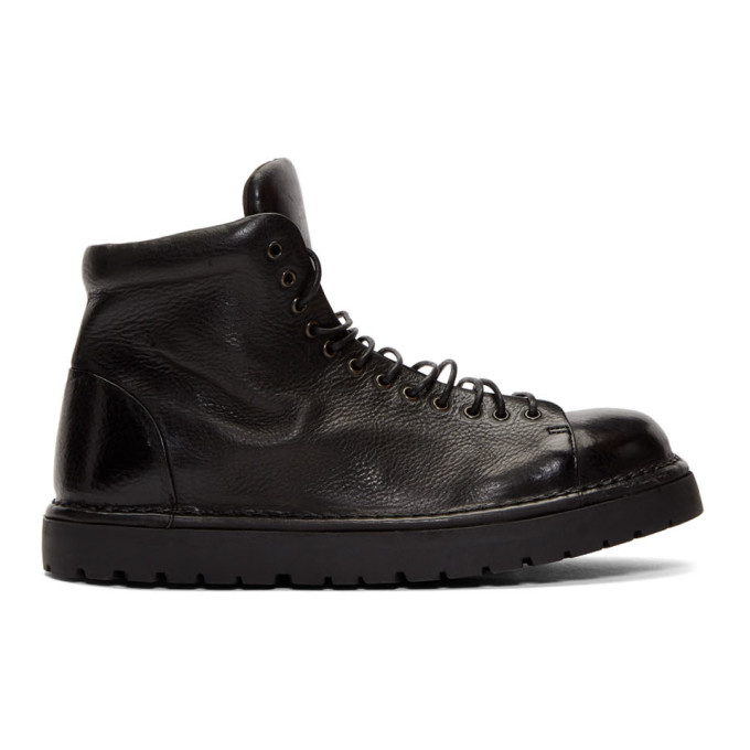 Marsell Black Gomme Pallottola Pedula Boots
