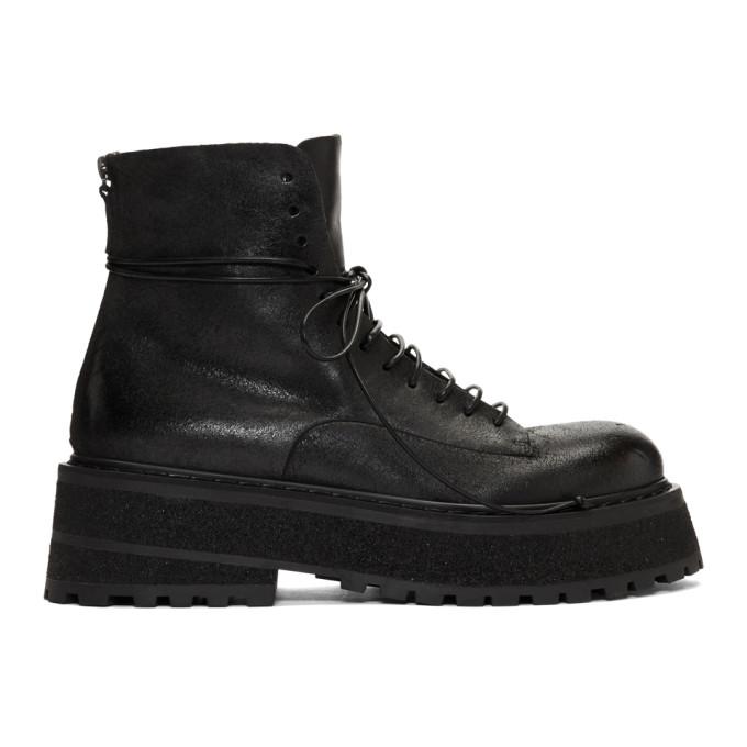 Marsell Black Carretta Boots