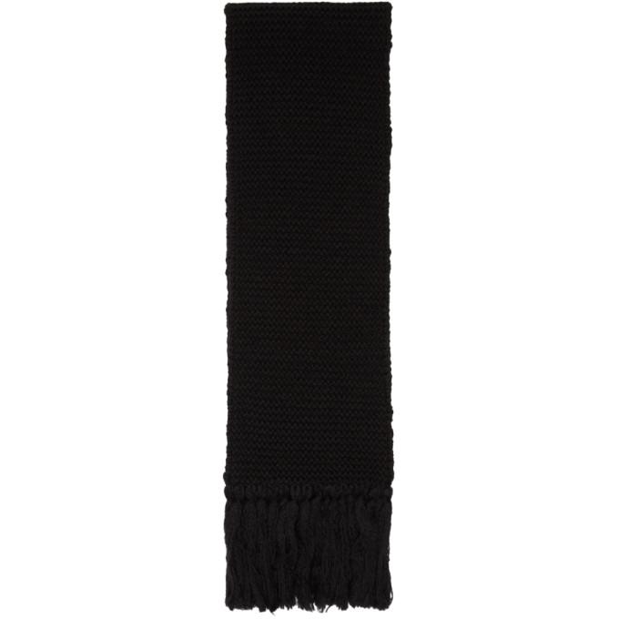 Dries Van Noten Foulard surdimensionne en laine noir