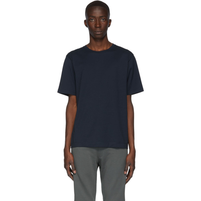 Dries Van Noten Navy Cotton Jersey T-Shirt