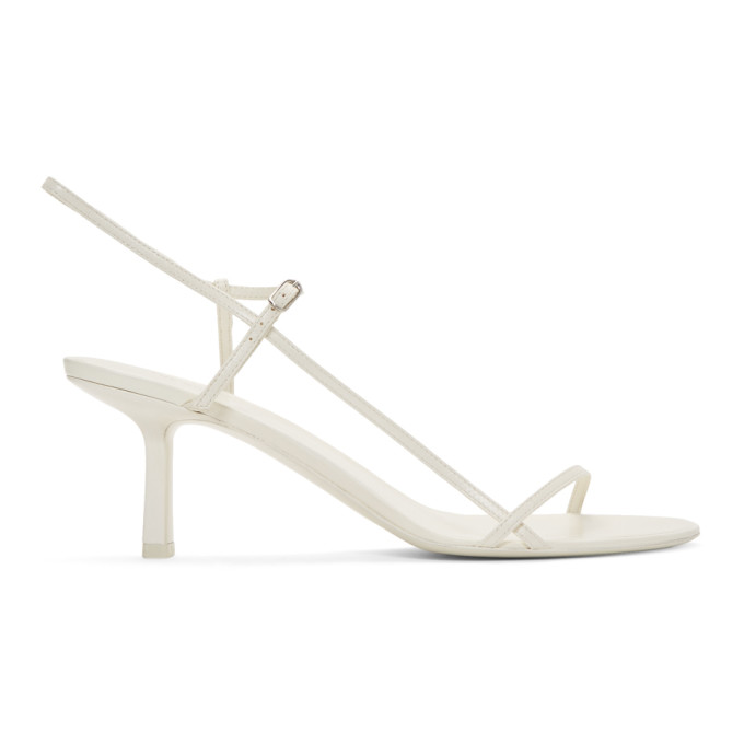 The Row White Bare Heeled Sandals