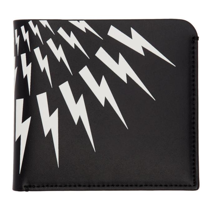 Neil Barrett Black Thunderbolt Bifold Wallet