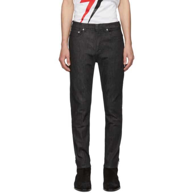 Neil Barrett Jeans NEIL BARRETT BLACK PIERCING JEANS