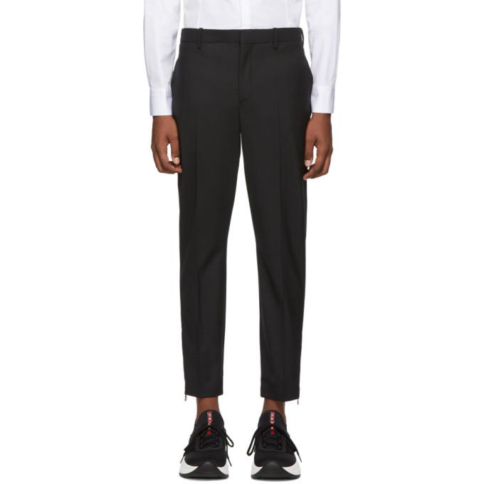 Neil Barrett Black Side Zip Trousers