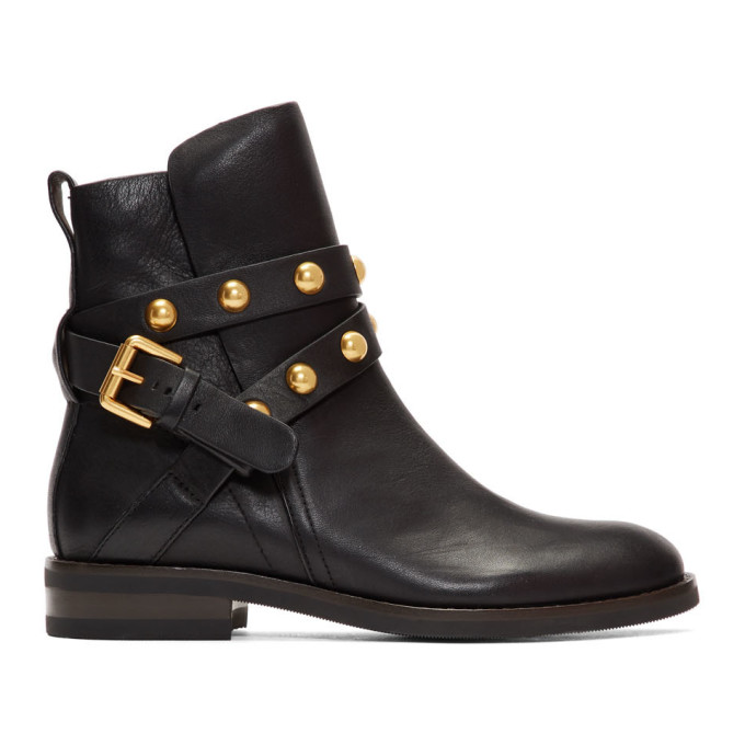 See by Chloe Black Janis Ankle Boots