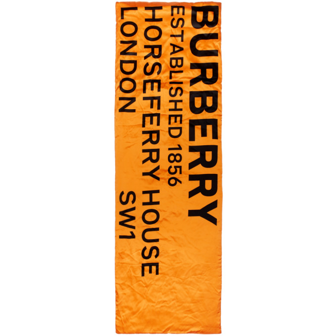 Burberry Foulard rembourre en soie orange