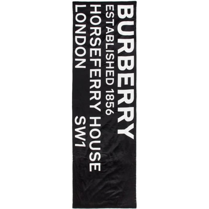 Burberry Foulard rembourre en soie noir