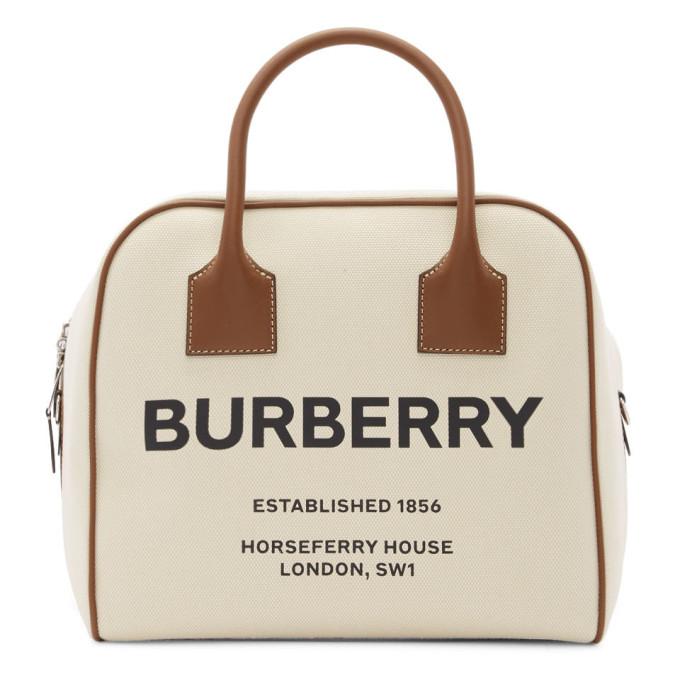 Burberry 0 BURBERRY BEIGE WOVEN PORTRAIT CUBE BAG