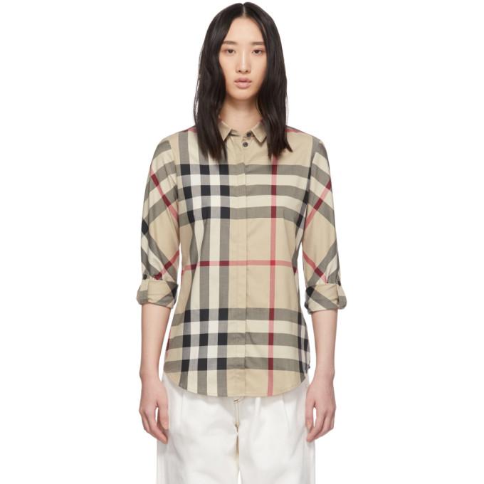 Burberry Women's 3918091 Beige Cotton Shirt In Neutrals