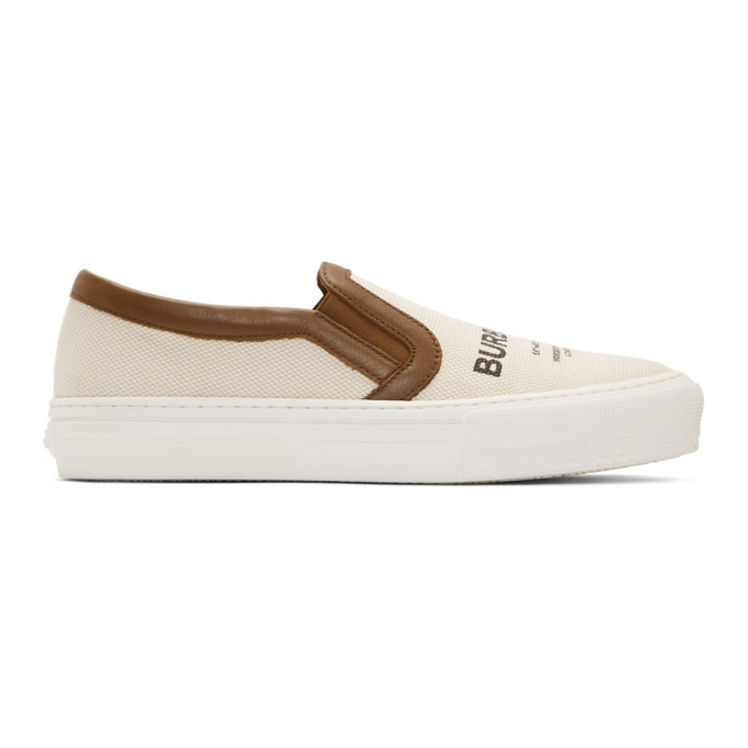 Burberry Off-White Delaware Slip-On Sneakers