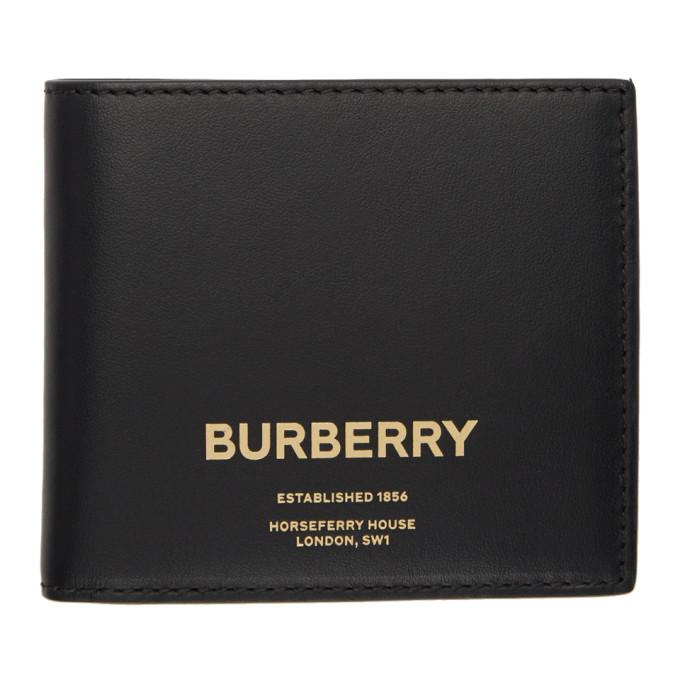 Burberry ブラック ホースフェリー バイフォールド ウォレット