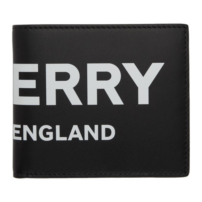 Burberry ブラック ロゴ インターナショナル バイフォールド ウォレット