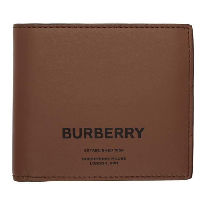 Burberry ブラウン ホースフェリー インターナショナル バイフォールド ウォレット