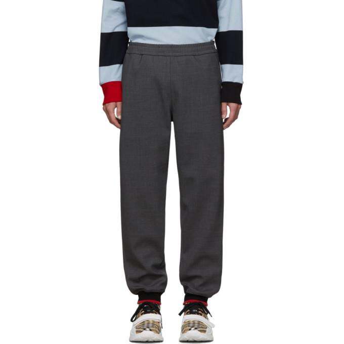 Burberry Pantalon de survetement gris Melange Jogger