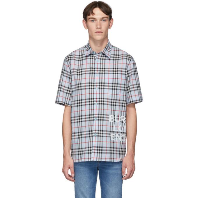 Burberry ブルー ビンテージ チェック オーバーサイズ Sandor シャツ