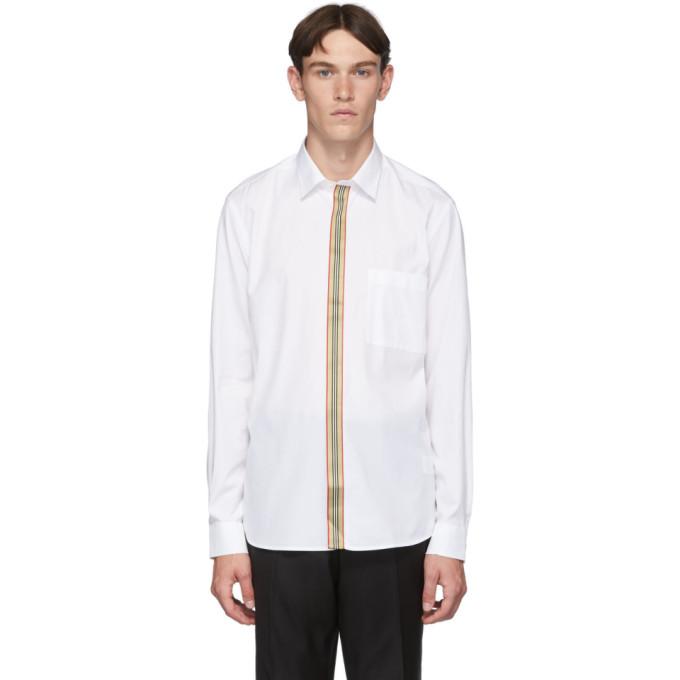 Burberry ホワイト アイコン ストライプ シャツ
