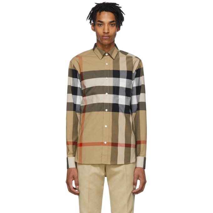 Burberry ベージュ チェック Windsor シャツ