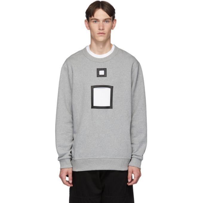 Burberry グレー メランジ カットアウト セーター