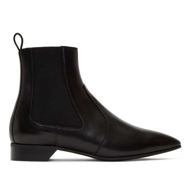 Pierre Hardy Black Leather Alpha Rocket Boots