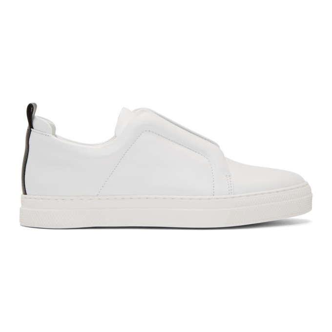 Pierre Hardy White Leather Slider Sneakers