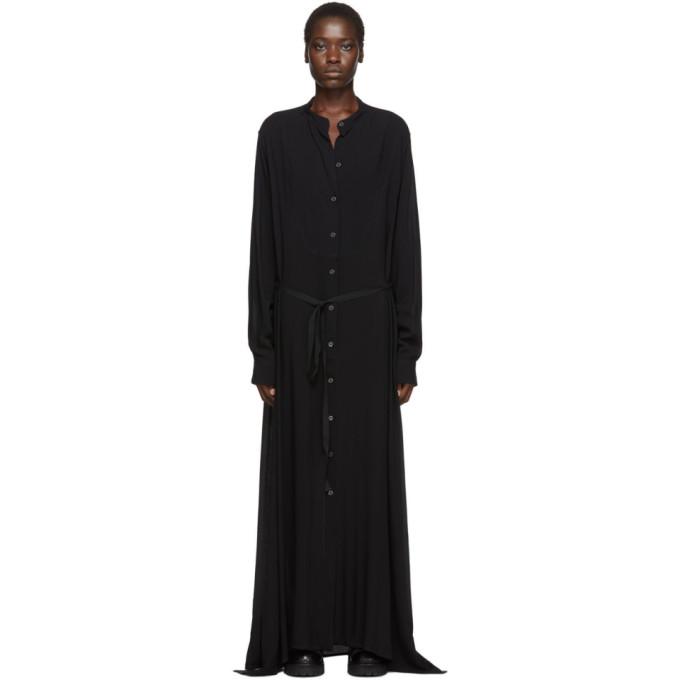 Ann Demeulemeester Robe chemise noire