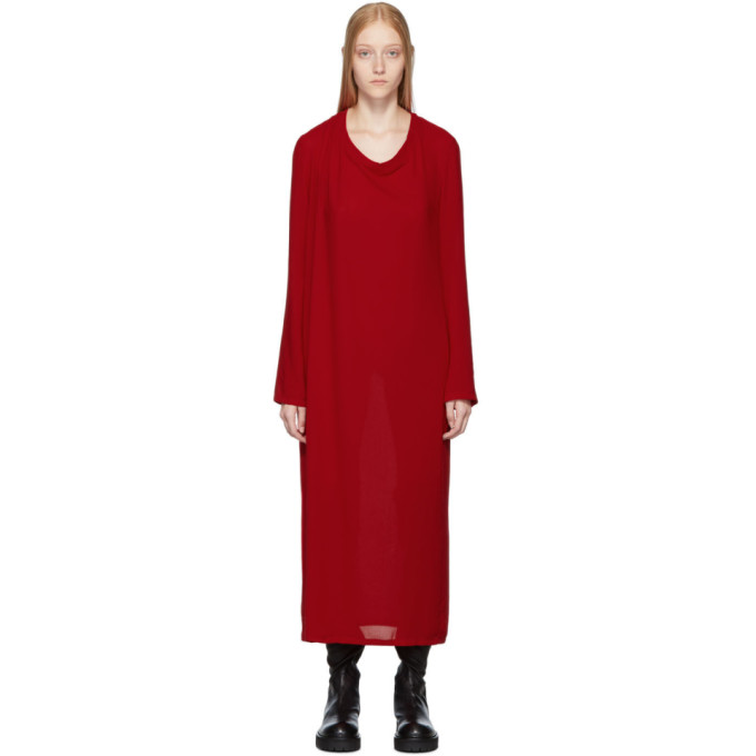 Ann Demeulemeester Robe rouge Pallas