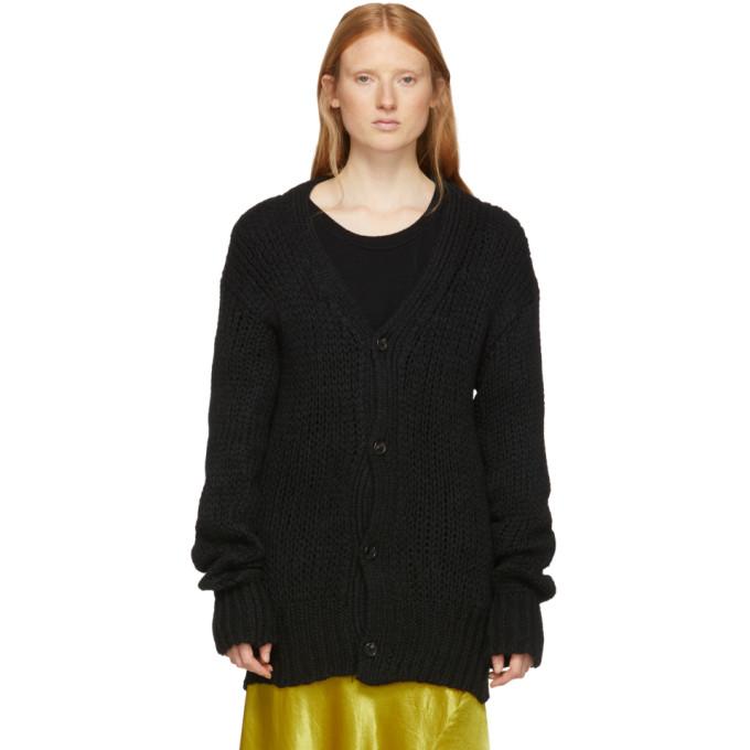 Ann Demeulemeester Black Wool Knit Cardigan
