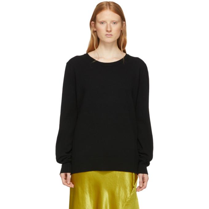 Ann Demeulemeester Black Canber Crewneck Sweater