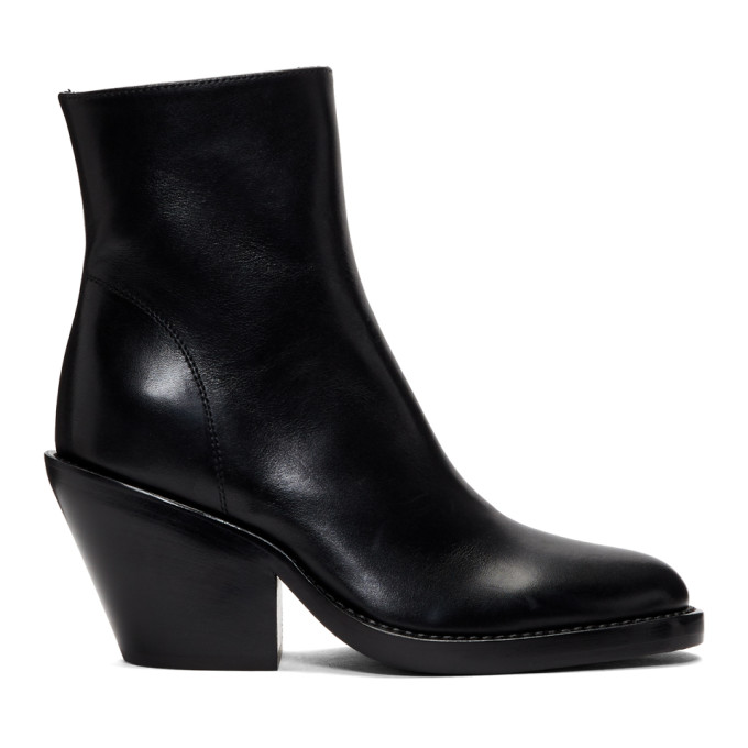 Ann Demeulemeester Black Slashed Heel Boots
