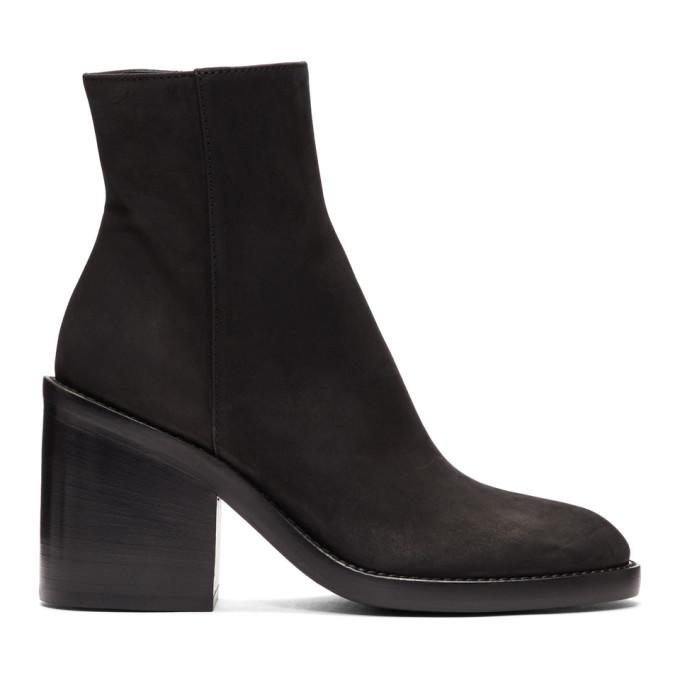 Ann Demeulemeester Black Nubuck Boots