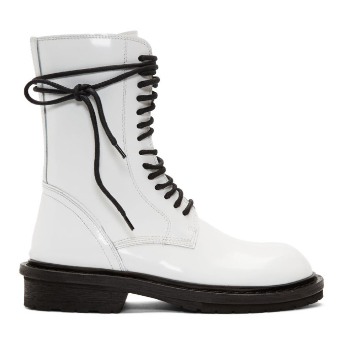Ann Demeulemeester SSENSE Exclusive White Low Rider Boot
