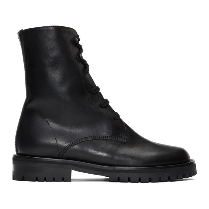 Ann Demeulemeester Black Oil Boots