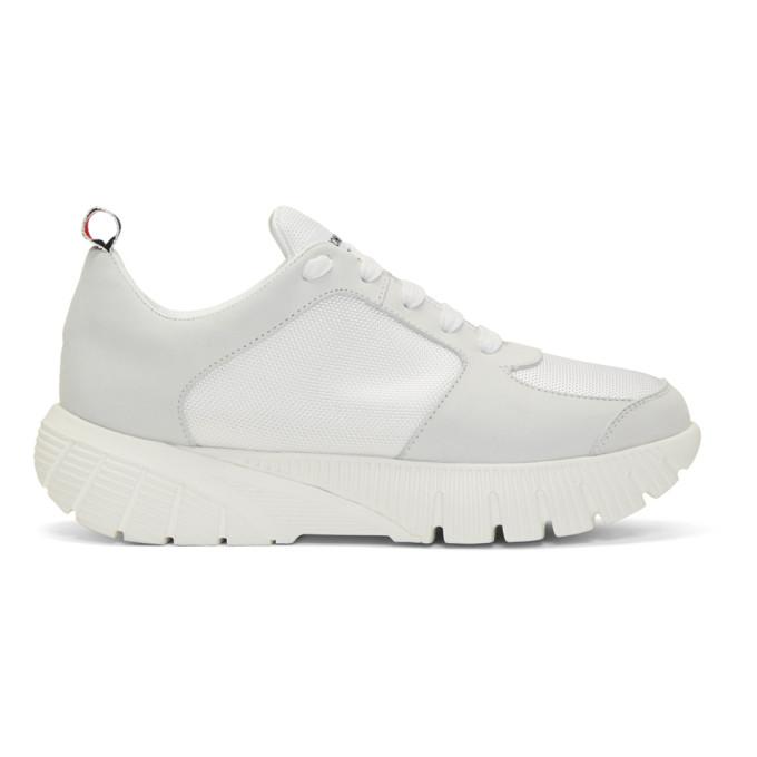 Thom Browne White Raised Tech Running Sneakers