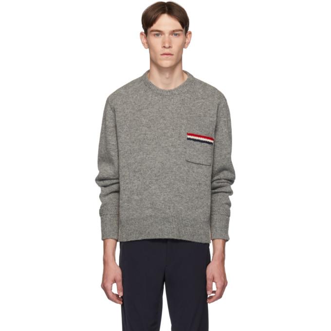 Thom Browne グレー リラックスフィット プルオーバー セーター