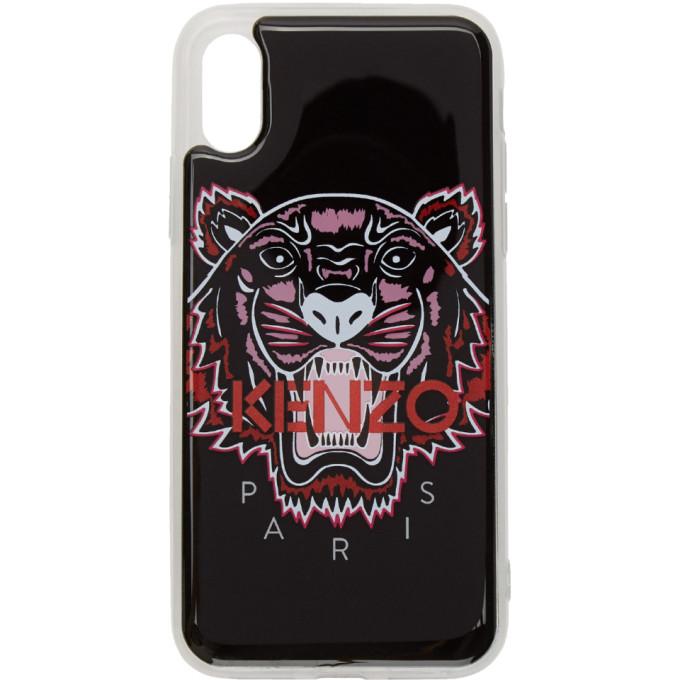 Kenzo Black 3d Tiger Logo Iphone Xxs Case