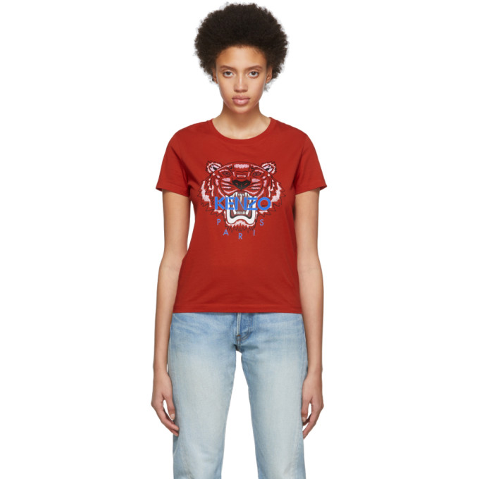 KENZO | Kenzo Red Limited Edition Tiger T-Shirt | Goxip