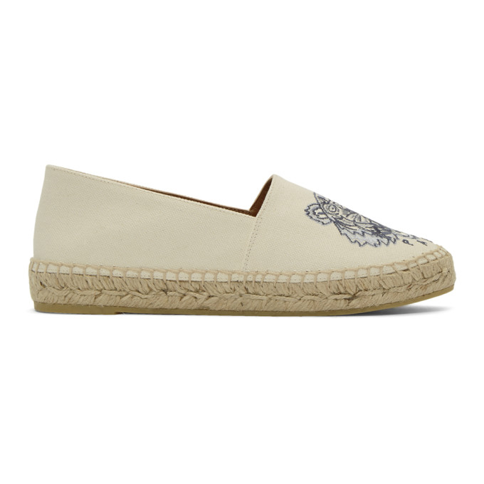 Kenzo Off-White Canvas Classic Tiger Espadrilles