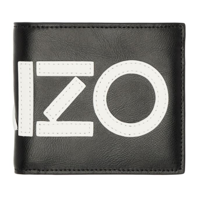 Kenzo Black Logo Fold Wallet