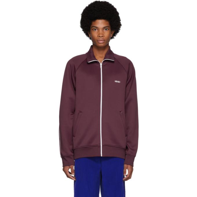 Kenzo Burgundy Zipped Track Jacket