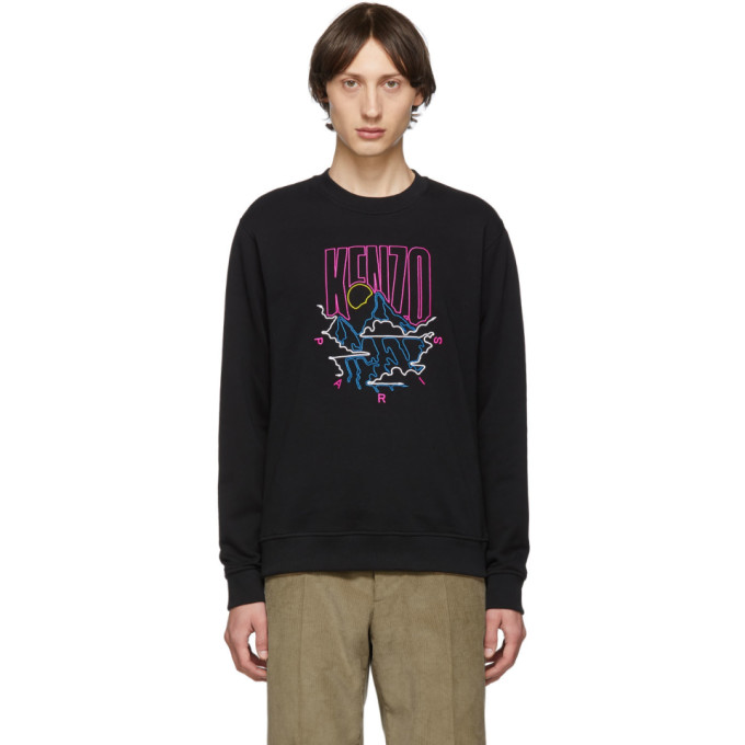 Kenzo T-shirts KENZO BLACK RICE BAGS SWEATSHIRT