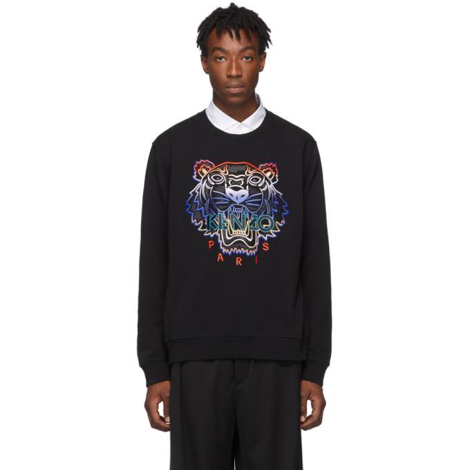 Kenzo Black Gradient Tiger Sweatshirt