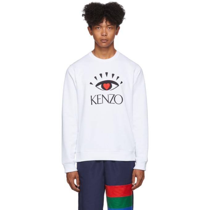 Kenzo White Limited Edition Cupid Sweatshirt